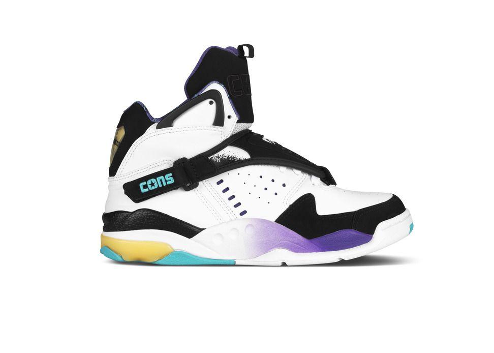 748a33b07e0a80 Classic Larry Johnson sneaker! Converse Aero Jam - OG White Purple Teal  Colorway