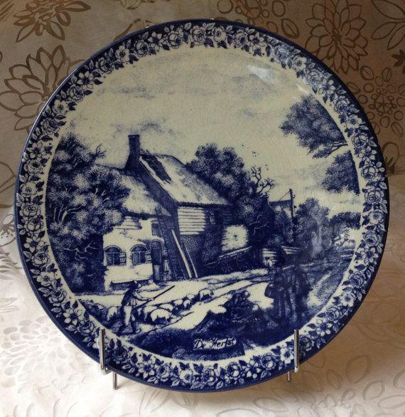 Delft Blue Plate, Delftware Plate, Delft Pottery Plate,  Delft Platter, Blue and White Decor