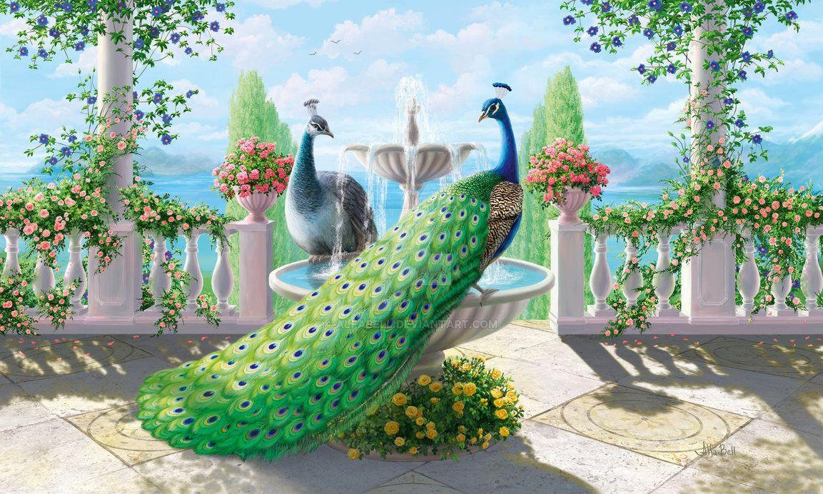 красивые картинки с павлинами и попугаями заварное пирожное наполняется
