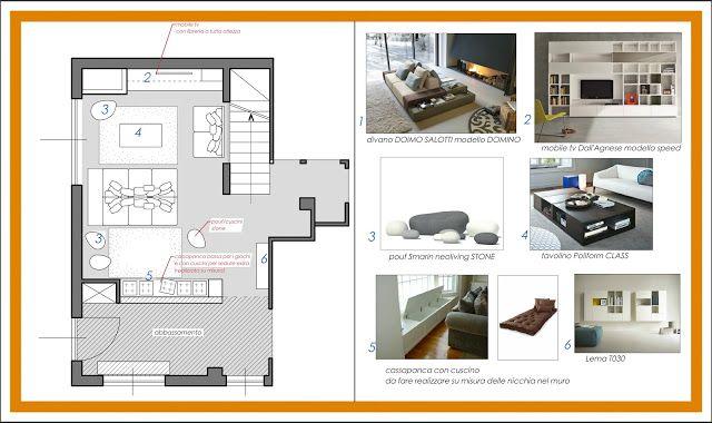 ARREDAMENTO E DINTORNI: arredo soggiorno (progetto per ...