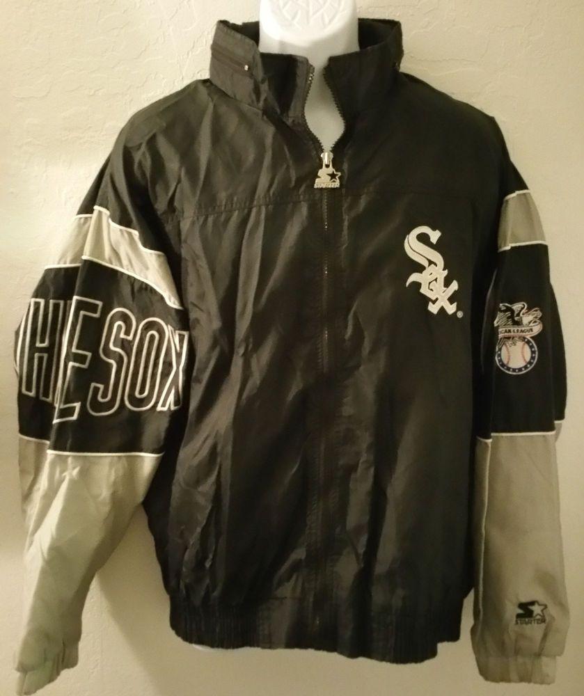 Vintage 90s Rare Chicago White Sox Starter Hooded Windbreaker Jacket S Xl Kh79 Windbreaker Jacket Jackets Mlb Jackets [ 1000 x 839 Pixel ]