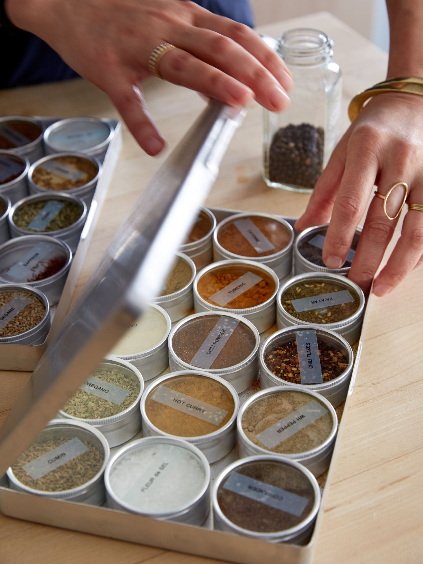8 Practical And Artful Ways To Label Spice Jars