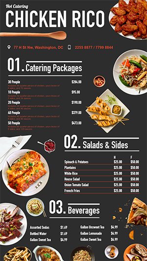 fast food digital menu board design for restaurant digital menu