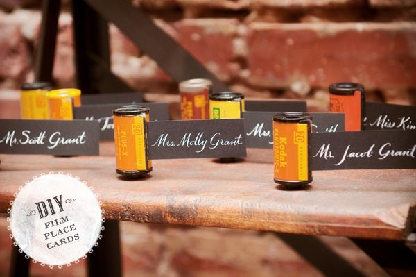 DIY Film Roll Place Cards | Marriage, Dream wedding and Escort cards
