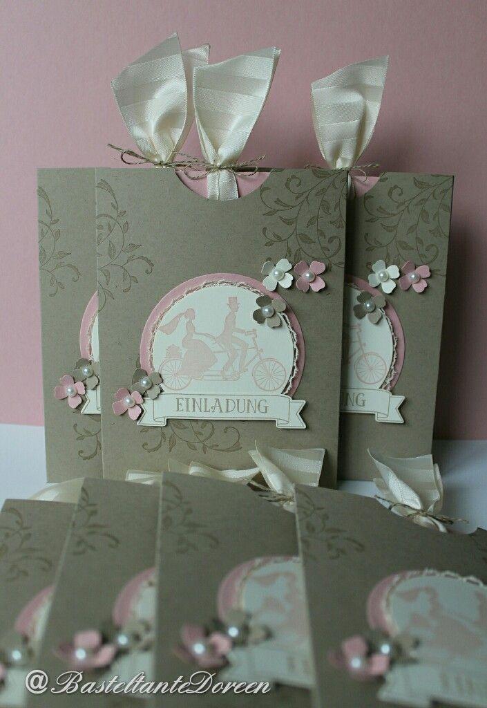 Einladungen Zur Hochzeit   Stampin Up   Auf Den Ersten Blick    BasteltanteDoreen