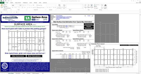 This cost estimation sheet is very useful for estimating the surface