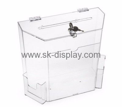 acrylic display custom acrylic plexiglass display case locked donation boxes dbs186