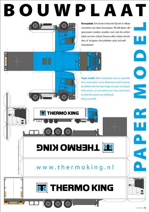 Httpyorlogobouwplaat Truck Met Oplegger Op A3 Formaat