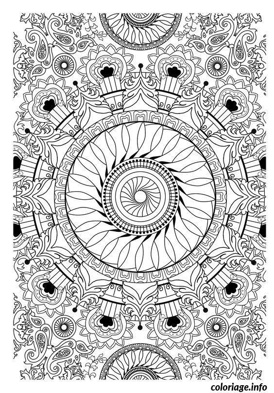 Coloriage difficile zen adulte dessin imprimer mariage - Mandala difficile a imprimer ...