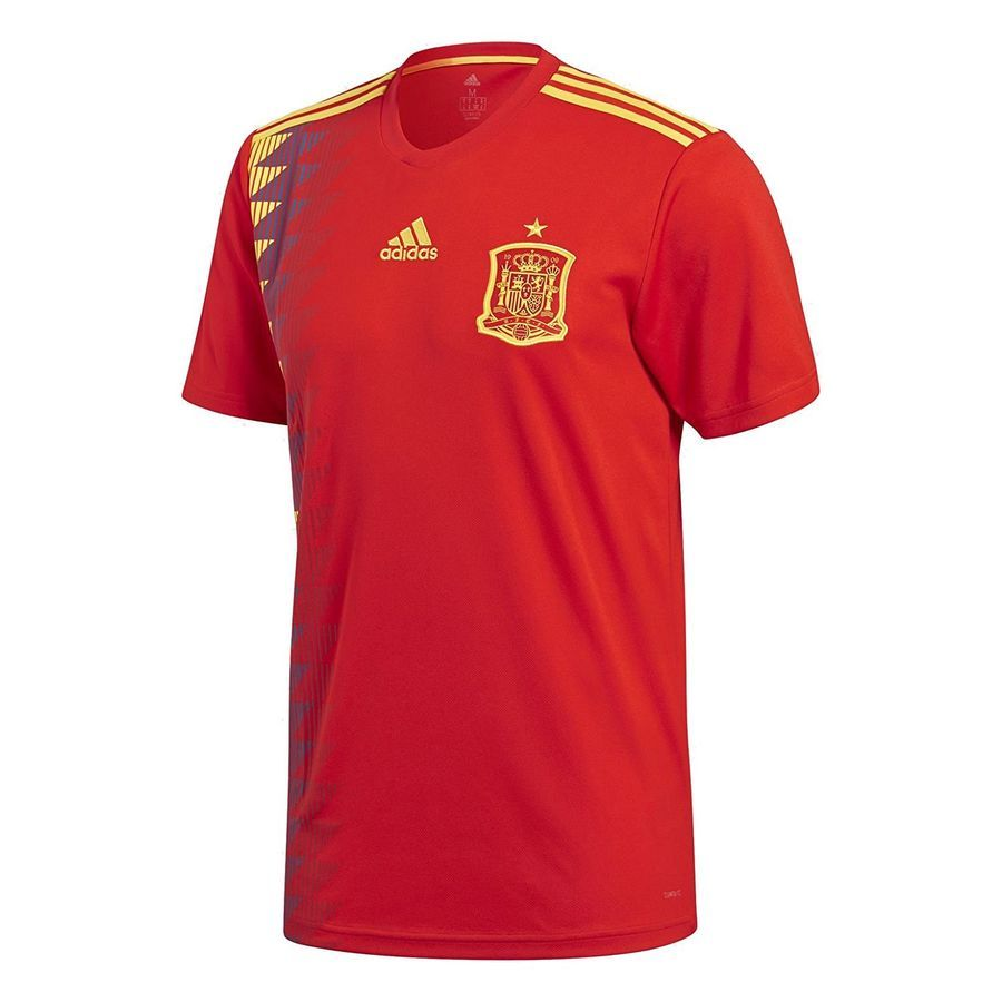 2018 World Cup of Soccer Team Spain Home adidas Replica Red Jersey  Small Soccer Team Spain 31fd6408dc90f