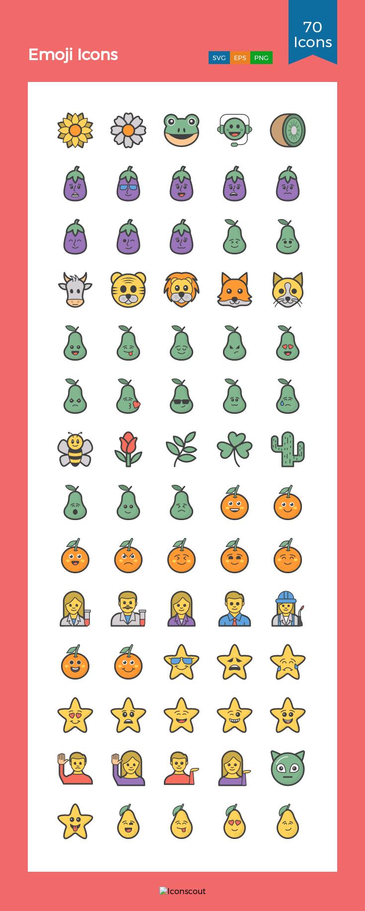 Download Emoji Icons Icon Pack Available In Svg Png Eps Ai Icon Fonts Icon Pack Icon Emoji Icon Un sympathique dessin animé de style face de lion—le grand chat et le roi de la jungle—en regardant droit devant. pinterest