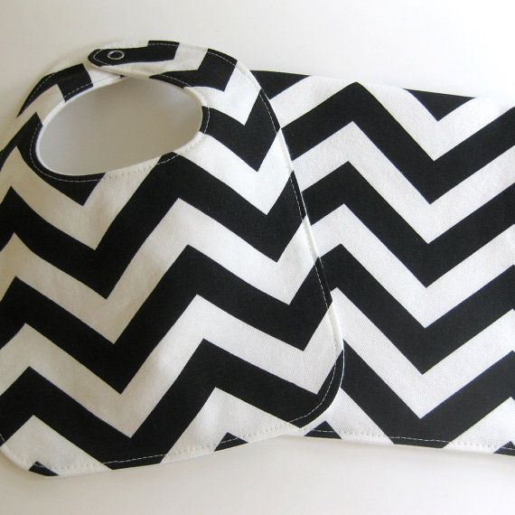 Chevron burp cloth and bib.