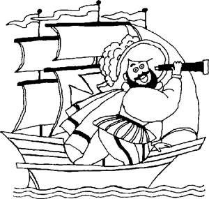 Free Kids Coloring Pages Christopher Columbus Crafts For Kids