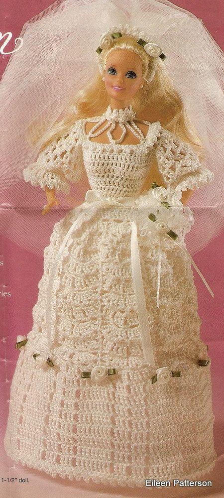 Crochet PDF Pattern Barbie Doll Wedding Gown | Barbie ...