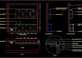 Office Pantry Design Drawing DWG Free Download in 2020