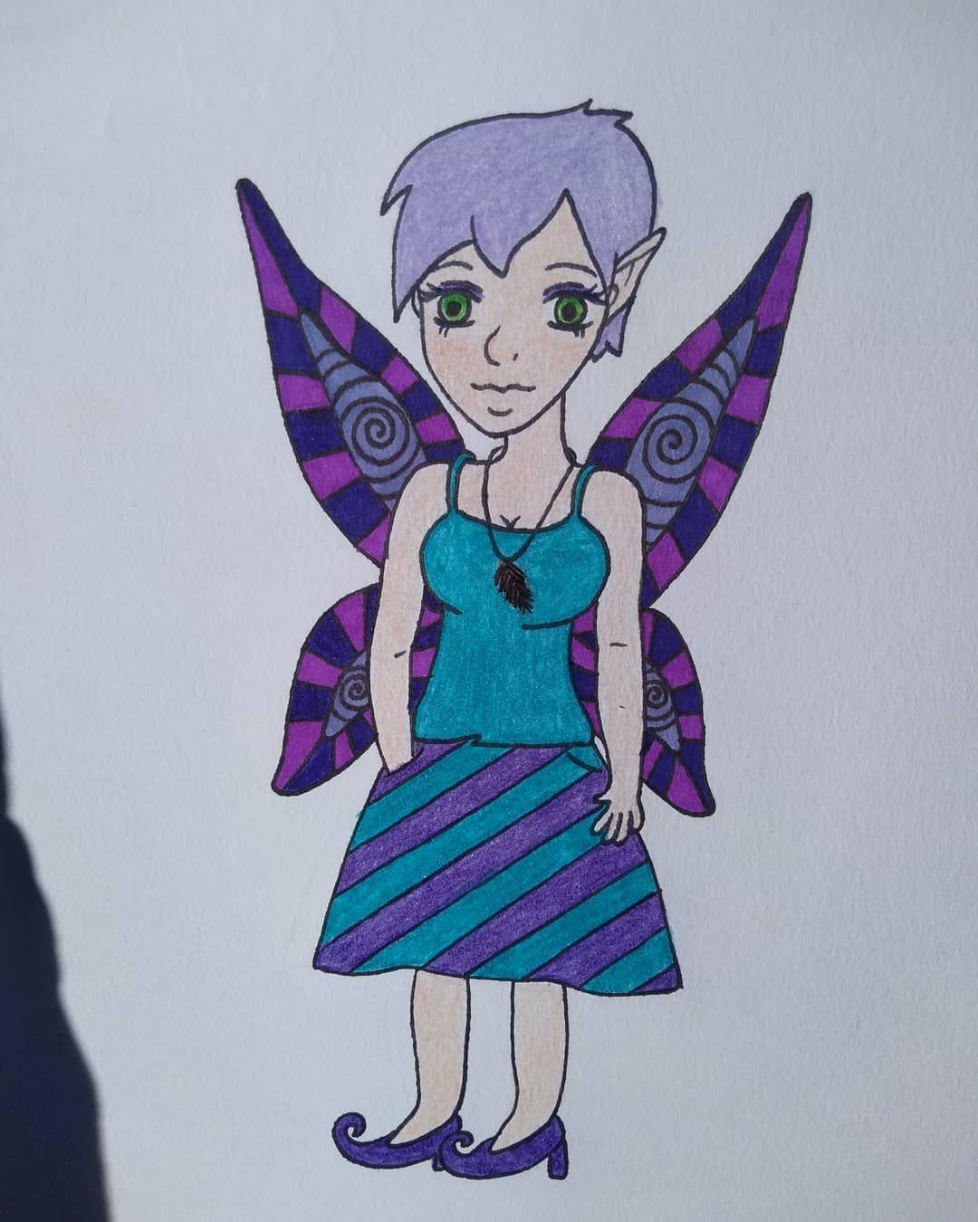 Watch The Best Youtube Videos Online She Looks So Small I Named Her Moon Flower I Like Her Face And Her Wings Her Shoe Sketch Book Moon Flower Illustration