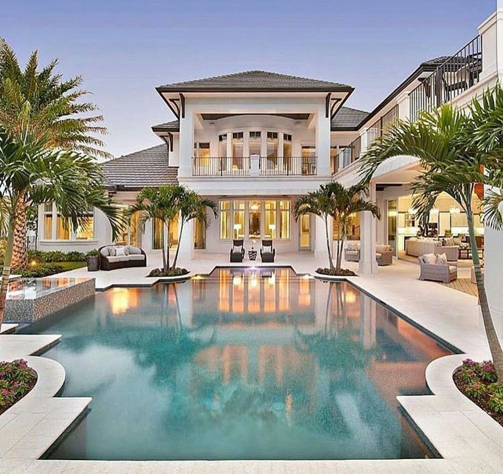 44 Luxury And Elegant Backyard Pool Beach House Plan Mansions