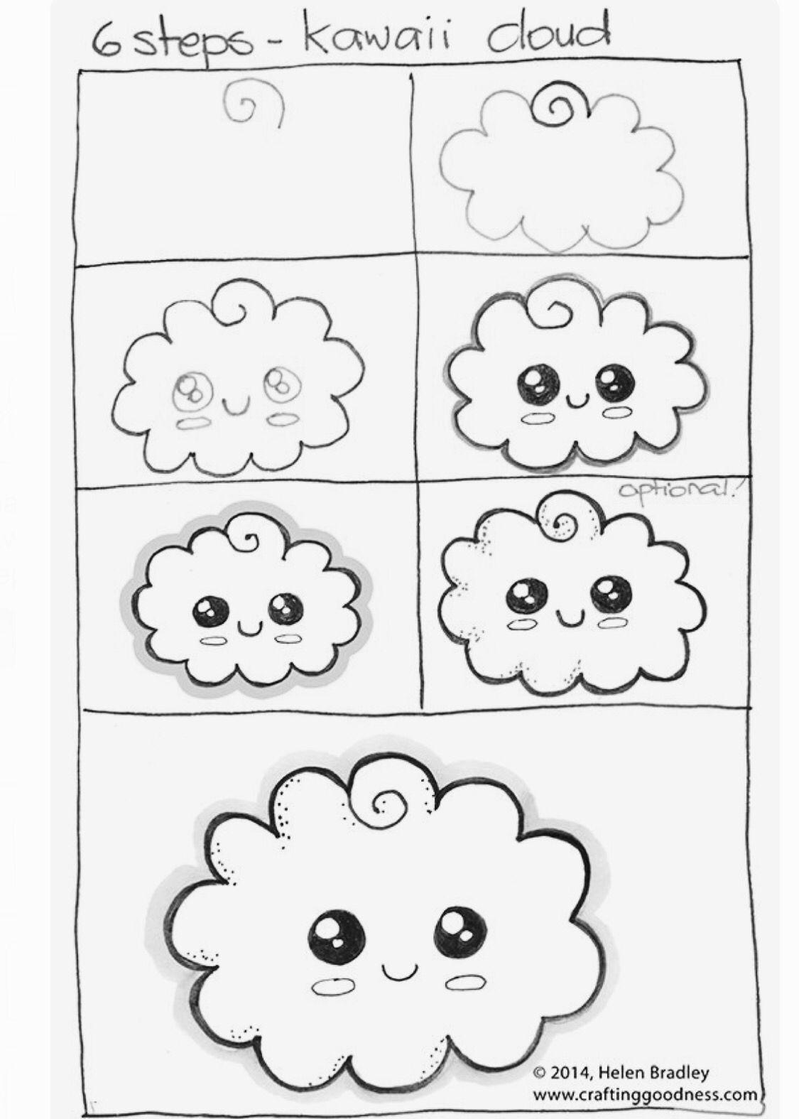 dessin nuage - Dessin De Nuage