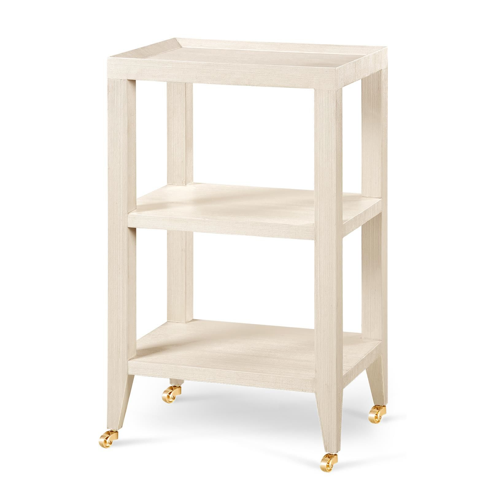 isadora side table natural lacquered grasscloth 17wx13dx29h other