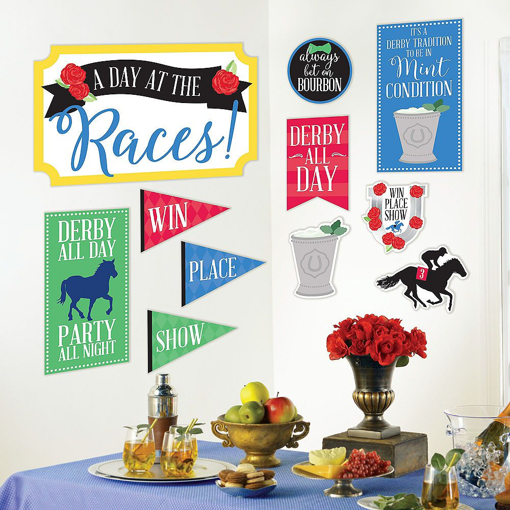 Horse Racing Derby Day Cutouts 11ct Party City