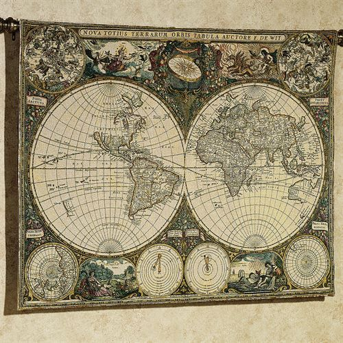 Old world map wall tapestry wall tapestries tapestry and walls old world map wall tapestry sciox Gallery