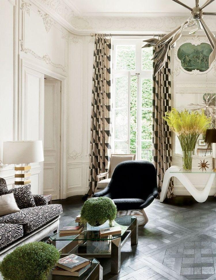French Curtains Parisian Apartment