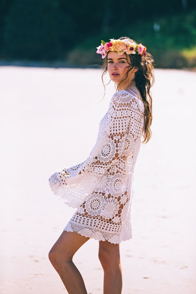 robe courte crochet miss june