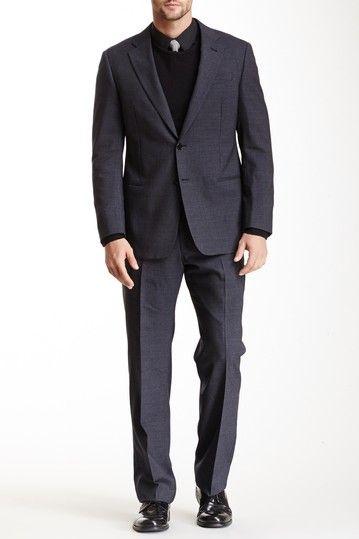 Armani Collezioni Dark Blue Two Button Notch Lapel Suit by Armani Collezioni on @HauteLook