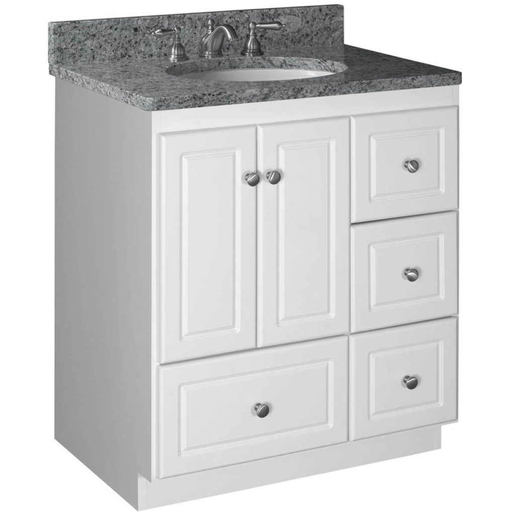 30 inch bathroom vanity with drawers on left side | bathroom