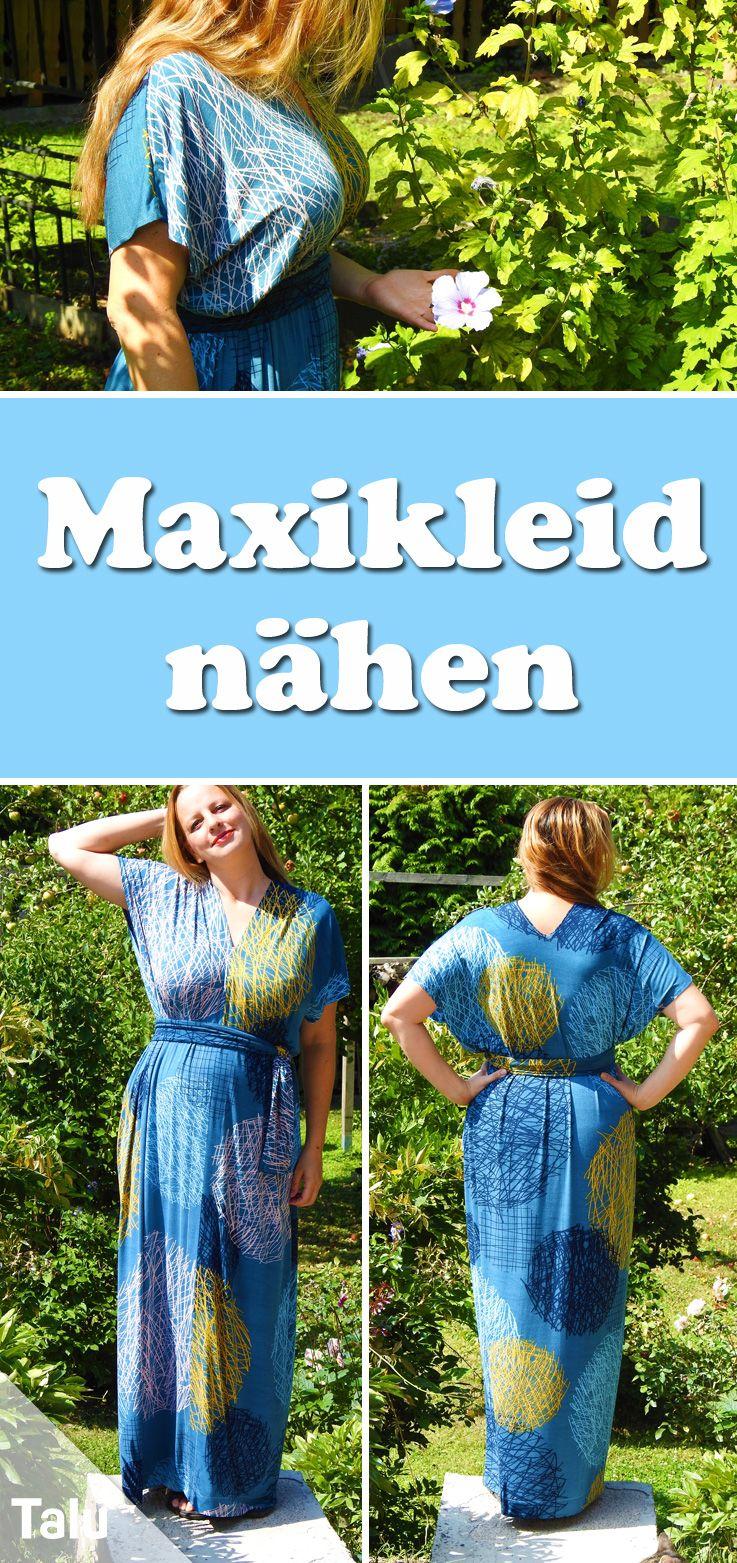 Top Maxikleid nähen - Anleitungen ohne Schnittmuster | Nähen leicht XI68
