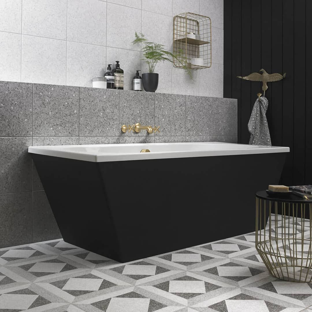 Looking For A Modern Twist On A Classic Meet Our New Conglomerate Tile Bct56812 Simple Bathroom Lavatory Design Luxury Tile