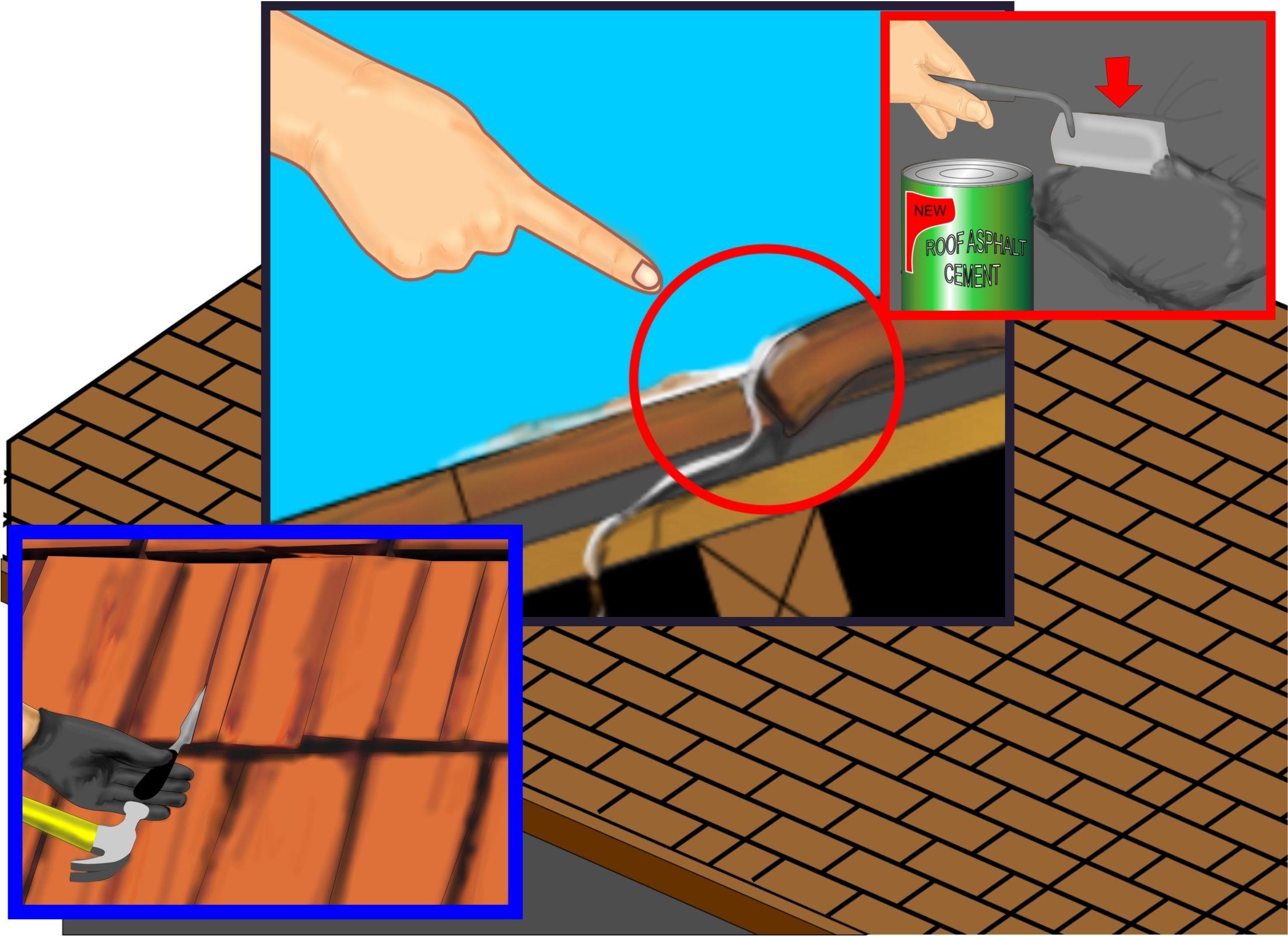 How To Repair A Leaking Roof Leaking Roof Roof Repair Diy Roof Repair