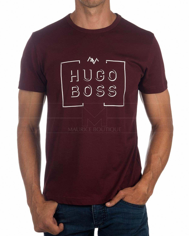 Camisetas HUGO BOSS ® Hombre Burdeos ✶ Tee  12e37ac368a