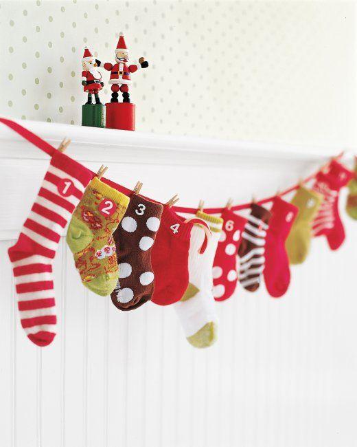 baby sock advent calendar adventskalender adventskalender diy und f llung. Black Bedroom Furniture Sets. Home Design Ideas