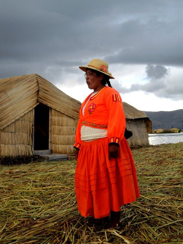 Lady at Lake Titicaca
