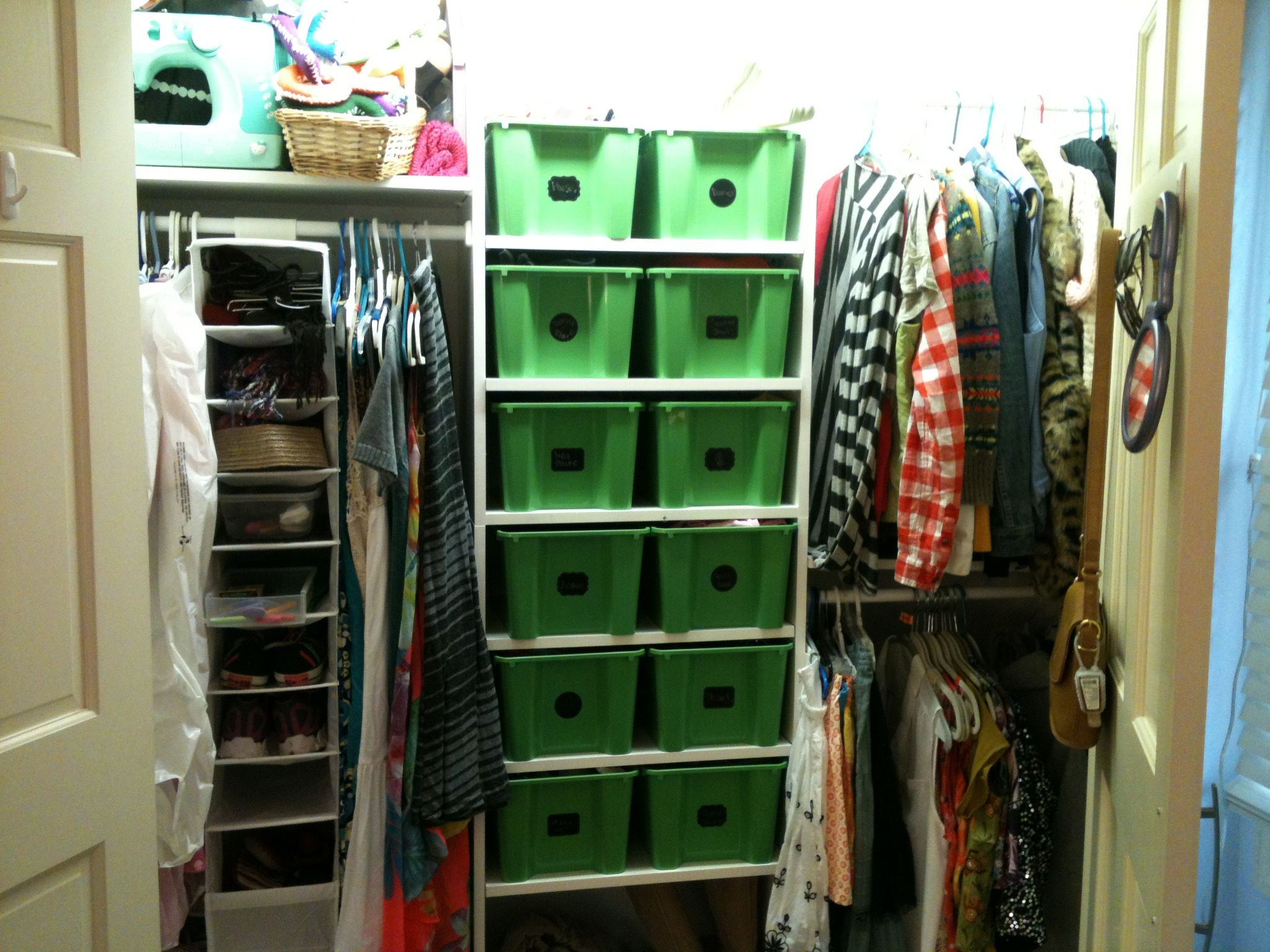 Ikea Gles Tubs And Chalkboard Stickers Tidy Closet