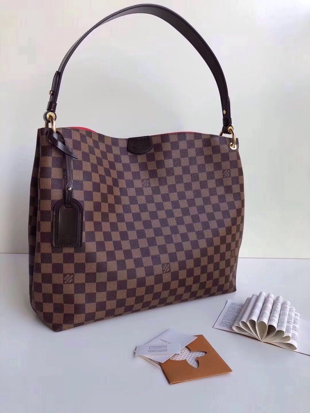 ee0611254514 My bag 😍 so in love with it! Louis Vuitton Graceful MM in Damier ...