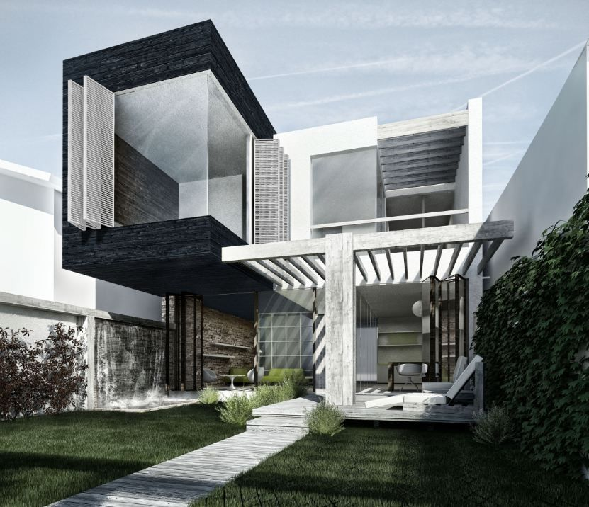 Casa moderna randare 3dsmax photoshop galerie for Design casa moderna