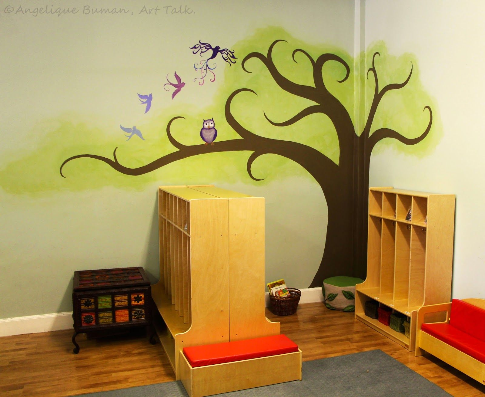 Angelique Buman, Art Talk.: Tutorial on How to Paint a Tree Mural to ...