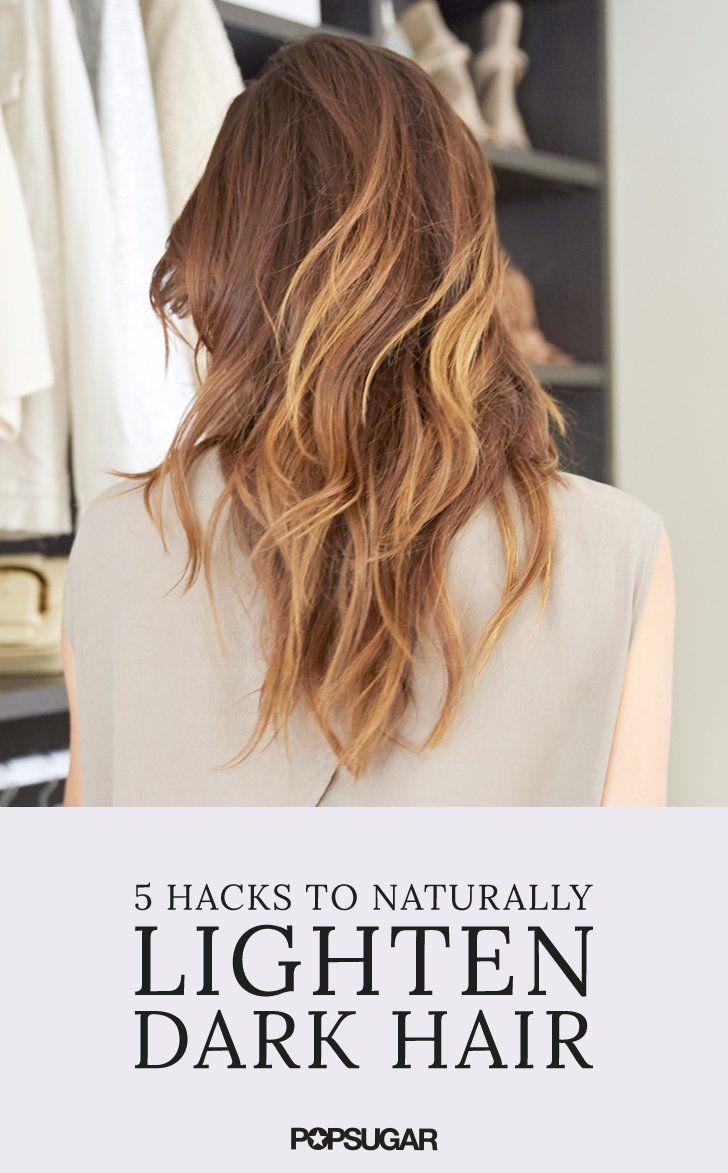 Natural Hacks to Lighten Brunette Hair Brunette hair Brunettes