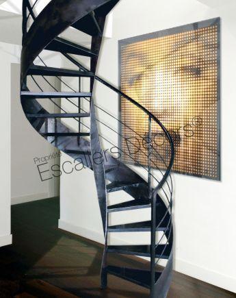 Photo DH89 - SPIR\u0027DÉCO® Flamme Escalier d\u0027intérieur design en acier