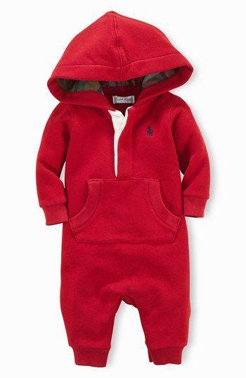 Ralph Lauren Hooded Romper Baby Boys Nordstrom Christmas For