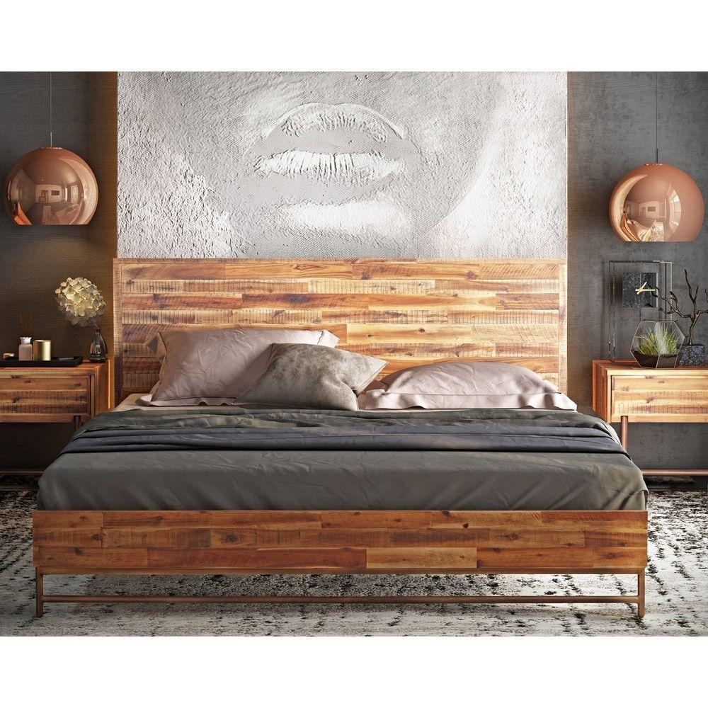 Bushwick Wooden King Bed   Overstock.com Shopping   The Best Deals On Bedroom  Sets