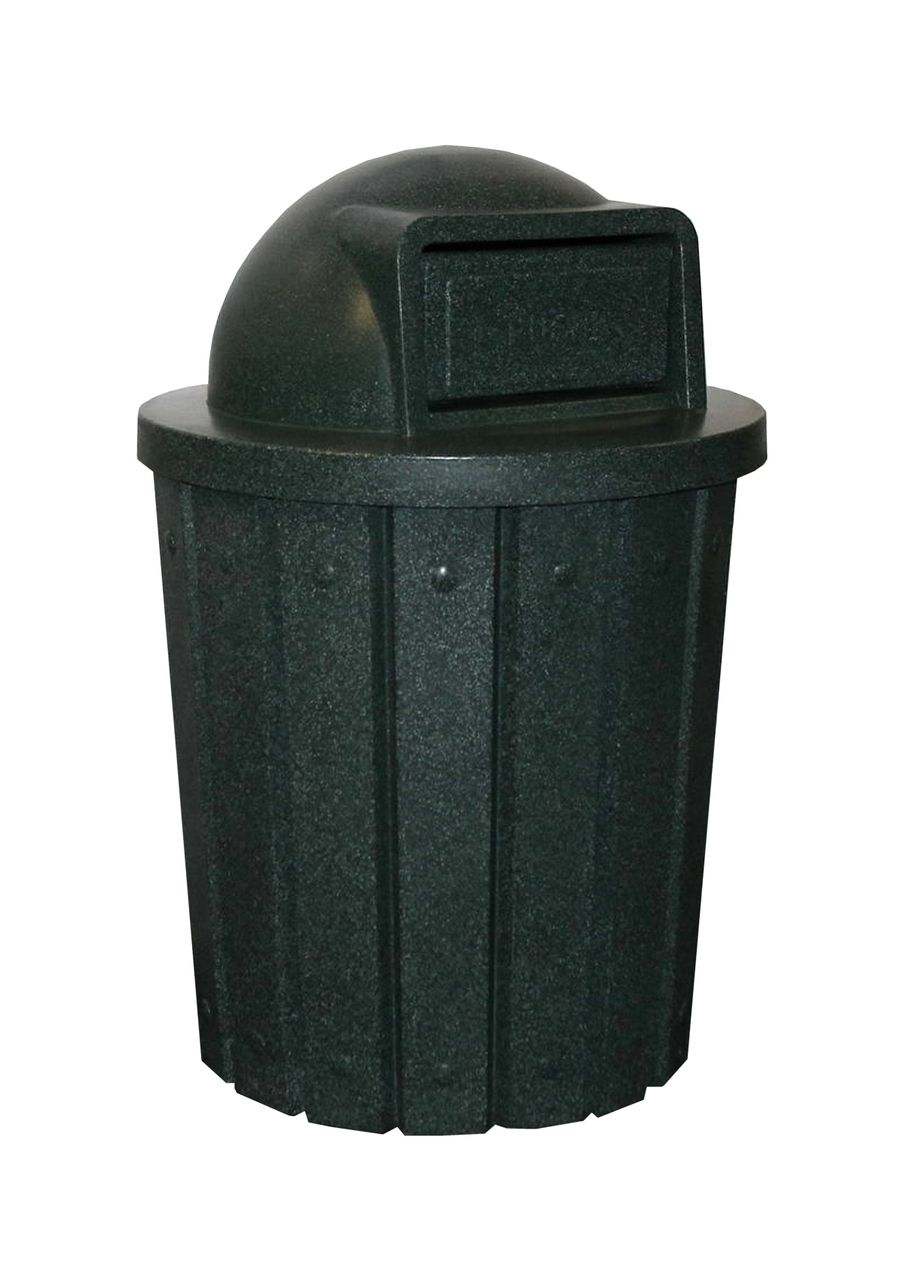 42 Gallon Kolor Can Heavy Duty Trash Receptacle S8281a 8 Lid Styles 13 Colors Trash Receptacle Trash Trash And Recycling Bin