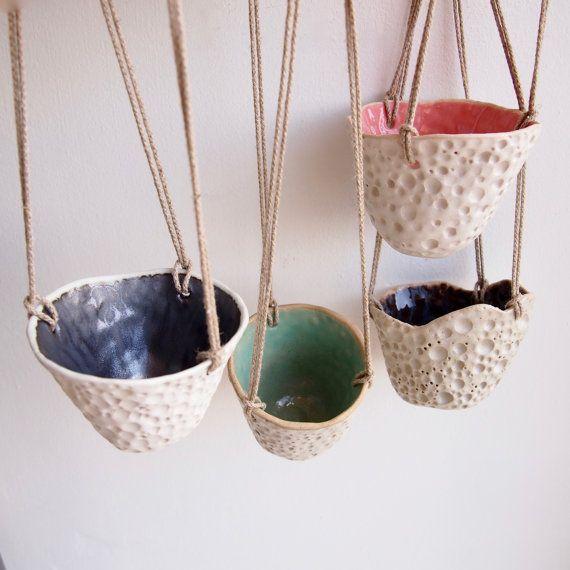 Hanging Ceramic Planter Ceramic Wall Planter Pottery