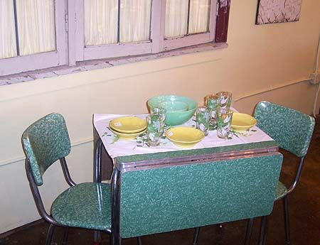 sets hull table sector retro kitchen chairs chrome dinette and en for