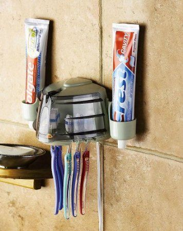 Amazon Com Wall Mount Toothbrush Holder Amp Sanitizer By