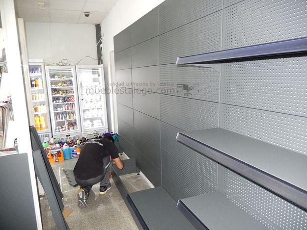 Instalación de Gasolinera REPSOL, hecha po MUEBLES TALEGO, Estanterías de comercio. Instalaciones comerciales Al mejor precio.