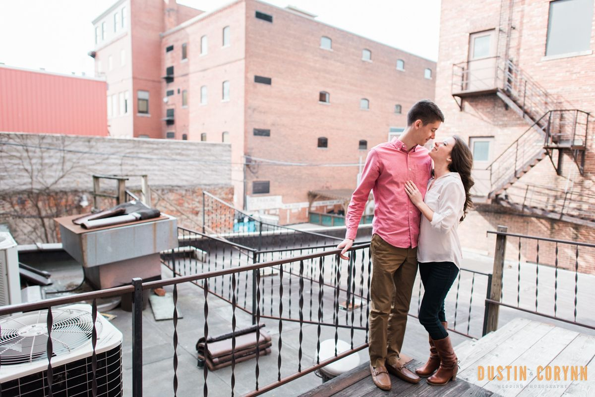 Laura And Steven S Engagement Session In Downtown Fort Wayne