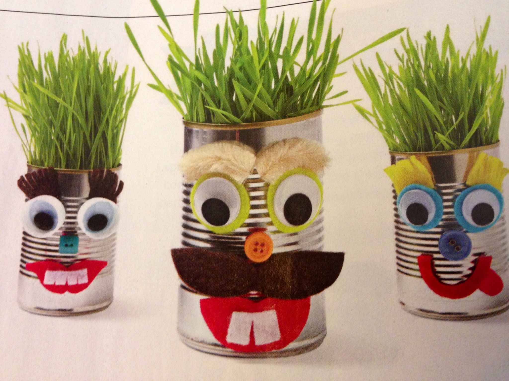 Can Do Creatures From Parents Magazine Cleaned Tin Cans A Few Craft Supplies Some Soil And